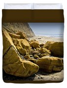 Boulders On The Beach At Torrey Pines State Beach Duvet Cover