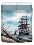 Bound For Blue Water Duvet Cover