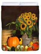Bountiful Harvest - Floral Painting Duvet Cover