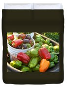 Bountiful Peppers Duvet Cover