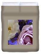 Roses And Violets  Duvet Cover