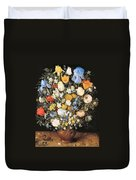 Bouquet In A Clay Vase Duvet Cover