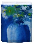 Bouquet In Blue Shadow Duvet Cover