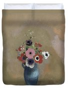 Bouquet Of Anemones Duvet Cover by Odilon Redon
