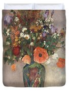 Bouquet Of Flowers In A Vase Duvet Cover