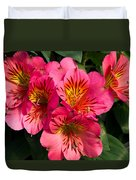 Bouquet Of Pink Lily Flowers Duvet Cover