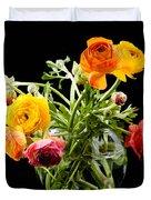 Bouquet Of Ranunculus Duvet Cover