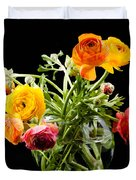 Bouquet Of Ranunculus Duvet Cover