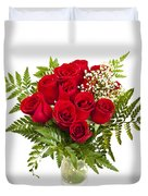 Bouquet Of Red Roses Duvet Cover by Elena Elisseeva