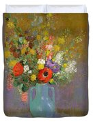 Bouquet Of Wild Flowers  Duvet Cover by Odilon Redon