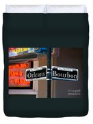 Bourbon And Orleans Duvet Cover