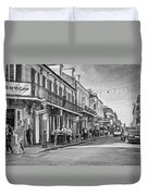 Bourbon Street Afternoon - Paint Bw Duvet Cover