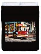 Bourbon Street Lucky Dog Duvet Cover by Bill Cannon