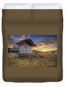 Bournemouth Beach Sunrise Duvet Cover