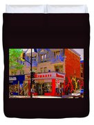 Boutique Erotique Romance Mont Royal The Love You Make Is Equal To The Love You Take City Scene Art Duvet Cover