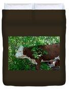 Bovine In The Shade Duvet Cover