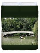 Bow Bridge And Row Boats Duvet Cover