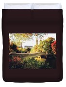 Bow Bridge - Autumn - Central Park Duvet Cover