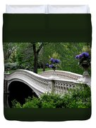 Bow Bridge Flower Pots - Central Park N Y C Duvet Cover