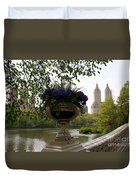 Bow Bridge Flowerpot And San Remo Nyc Duvet Cover