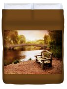 Bow Bridge Nostalgia 2 Duvet Cover