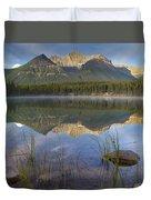 Bow Range And Herbert Lake Banff Duvet Cover