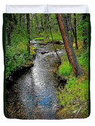 Bow River Near Lake Louise Campground In Banff National Park-ab Duvet Cover