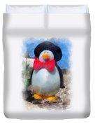 Bow Tie Penguin Photo Art Duvet Cover