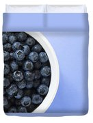 Bowl Of Blueberries Duvet Cover by Steven Raniszewski
