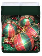 Bowl Of Christmas Colors Duvet Cover