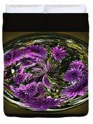 Bowl Of Dahlias Duvet Cover