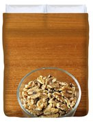 Bowl Of Shelled Walnuts Duvet Cover
