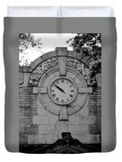 Bowling Green Time In Black And White Duvet Cover