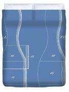 Bowling Pins Patent On Blue Duvet Cover