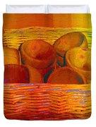 Bowls In Basket Moderne Duvet Cover by RC deWinter