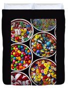 Bowls Of Buttons And Marbles Duvet Cover