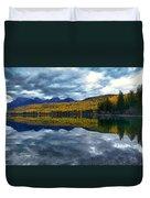 Bowman Lake Quietude Duvet Cover