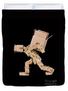 Box Character Carrying Large Box Duvet Cover
