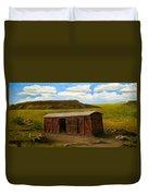 Boxcar On The Plains Duvet Cover