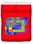 Boxed Rainbow Swirls 1 Duvet Cover