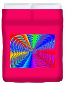 Boxed Rainbow Swirls 2 Duvet Cover