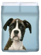 Boxer Dog, Close-up Of Head Duvet Cover by John Daniels