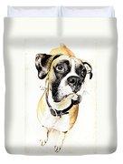 Boxer Dog Poster Duvet Cover