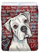 Boxer Love Duvet Cover by Stephanie Gerace
