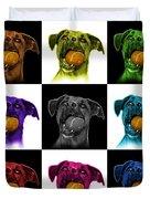 Boxer Mix Dog Art - 8173 - V1 - M Duvet Cover