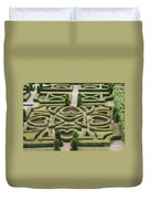 Boxwood Garden - Chateau Villandry Duvet Cover