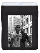 Boy In The Crowd - Sao Paulo Duvet Cover
