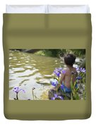 Boy On The Water Duvet Cover
