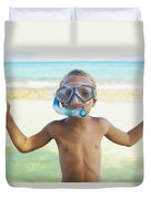 Boy With Snorkel Duvet Cover