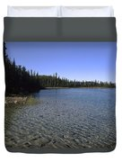 Boya Lake Duvet Cover